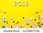 yellow medical background... | Shutterstock . vector #1224867136