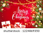 red background and boxes | Shutterstock .eps vector #1224869350