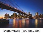 brooklyn bridge  new york city...   Shutterstock . vector #1224869536