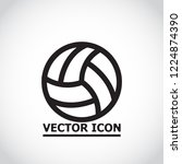 volleyball ball outline vecto | Shutterstock .eps vector #1224874390