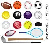 vector sports set | Shutterstock .eps vector #122488240