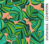 creative seamless pattern with... | Shutterstock . vector #1224890596