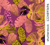 creative seamless pattern with... | Shutterstock . vector #1224895696