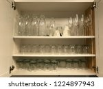 a cabinet full of reusable... | Shutterstock . vector #1224897943