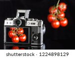 photographing a tomato on a... | Shutterstock . vector #1224898129
