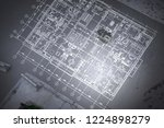 architecture blueprint... | Shutterstock . vector #1224898279