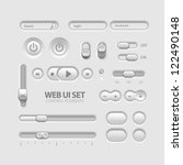 light web ui elements design... | Shutterstock .eps vector #122490148