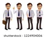 elegant people businessman | Shutterstock .eps vector #1224904006