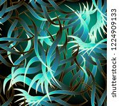 exotic tropical abstract leafy... | Shutterstock .eps vector #1224909133