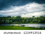 panorama of linlithgow loch in... | Shutterstock . vector #1224913516