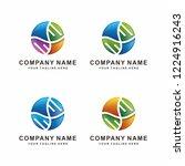 modern abstract dna logo design | Shutterstock .eps vector #1224916243