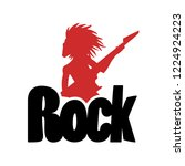 rock symbol design | Shutterstock .eps vector #1224924223