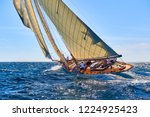 classic yacht under full sail... | Shutterstock . vector #1224925423