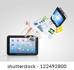 modern communication technology ... | Shutterstock . vector #122492800