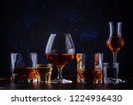 selection of strong alcoholic... | Shutterstock . vector #1224936430