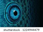 binary circuit board future... | Shutterstock .eps vector #1224944479