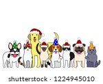 cute dogs and cats group with...   Shutterstock .eps vector #1224945010
