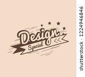 special design badge logo vector | Shutterstock .eps vector #1224946846