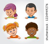 multi ethnic boys and girls... | Shutterstock .eps vector #1224949276