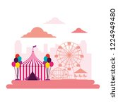 fun fair carnival | Shutterstock .eps vector #1224949480