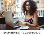 dazzling caucasian happy... | Shutterstock . vector #1224950473