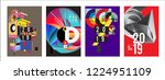 2019 new abstract poster... | Shutterstock .eps vector #1224951109