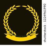 best golden anniversary vector... | Shutterstock .eps vector #1224961990