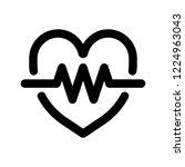 heart beat  cardiograph ... | Shutterstock .eps vector #1224963043