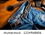 blue jeans with rock style of... | Shutterstock . vector #1224968806