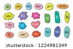 vector bubbles speech set. hand ...   Shutterstock .eps vector #1224981349