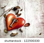 key with the heart as a symbol...   Shutterstock . vector #122500330