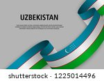 waving ribbon with flag of... | Shutterstock .eps vector #1225014496