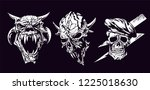 set of skull characters... | Shutterstock .eps vector #1225018630