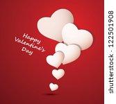 valentine's day background | Shutterstock .eps vector #122501908