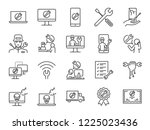 it support icon set. included... | Shutterstock .eps vector #1225023436