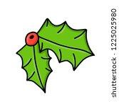 new year. christmas. hand... | Shutterstock .eps vector #1225025980