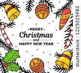 new year. christmas. hand... | Shutterstock .eps vector #1225025983