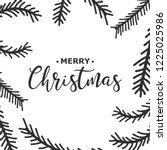 new year. christmas. hand... | Shutterstock .eps vector #1225025986