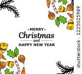 new year. christmas. hand... | Shutterstock .eps vector #1225025989
