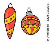 new year. christmas. hand... | Shutterstock .eps vector #1225026016