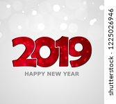 merry christmas. pig. 2019. new ... | Shutterstock .eps vector #1225026946
