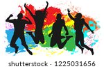 youth in a jump colored.... | Shutterstock .eps vector #1225031656