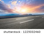 asphalt road and mountains at... | Shutterstock . vector #1225032460