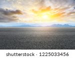 asphalt road and mountains at... | Shutterstock . vector #1225033456