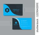 corporate business card | Shutterstock .eps vector #1225042093