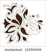 Stock vector vector flower design 122504344