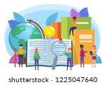 distant education concept.... | Shutterstock .eps vector #1225047640