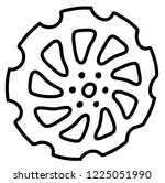the image of the harrow disk .   Shutterstock .eps vector #1225051990