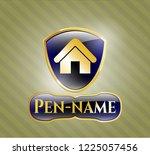 golden emblem or badge with...   Shutterstock .eps vector #1225057456