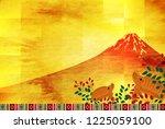 boar new year card fuji... | Shutterstock .eps vector #1225059100